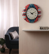 Hand-painted Coral Charm Wall Clock