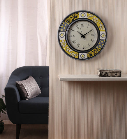 Hand-painted Vintage Reclaim Wall Clock