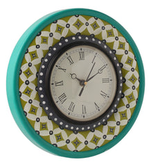 Hand-painted Classic Green Wall Clock