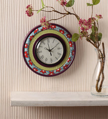 Hand-painted Classy Floral Wall Clock