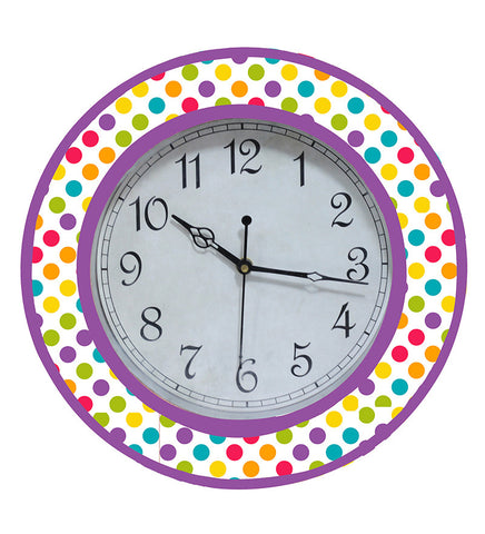 Handcrafted Polka Dots Clock for Kids