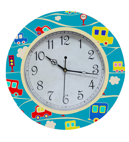 Handcrafted Cute Cars Clock for Kids
