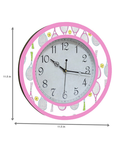 Handcrafted Badminton Clock for Kids