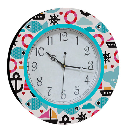 Handcrafted Marine Life Clock for Kids