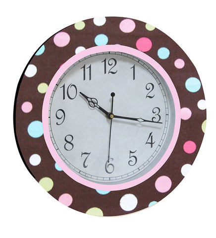 Handcrafted Polkadots Clock for Kids
