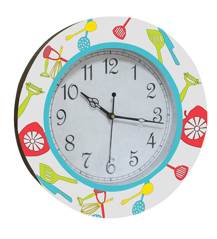 Handcrafted Kitchen Play Clock for Kids