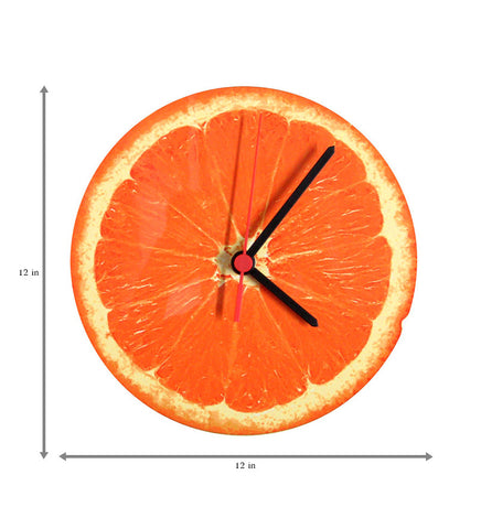 Handcrafted Orange Clock for Kids