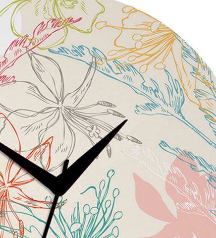 Handcrafted Flower Garden Clock for Kids