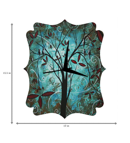 Handcrafted Art Forest Clock for Kids