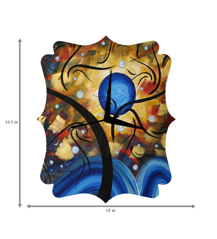 Handcrafted Art Universe Clock for Kids