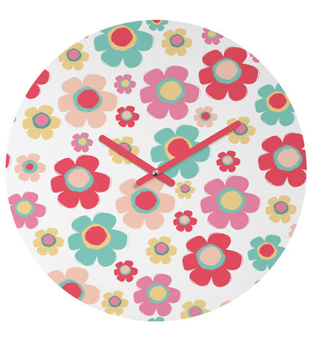 Handcrafted Polka Flower Clock for Kids