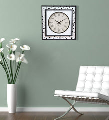 Handcrafted Monochrome Field Mangowood Wall Clock