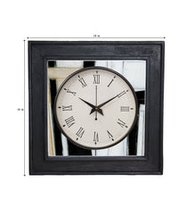 Handcrafted Monochrome Classics Mangowood Wall Clock