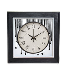Handcrafted Monochrome Flow Mangowood Wall Clock