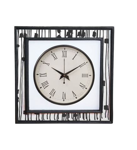 Handcrafted Monochrome Spring Mangowood Wall Clock