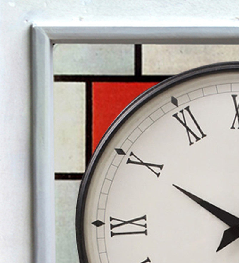 Handcrafted Color Bricks  Mangowood Wall Clock