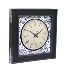 Handcrafted Monochrome Magic Mangowood Wall Clock
