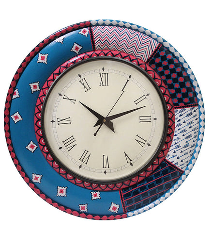 Handcrafted Color Fest Round Wall Clock