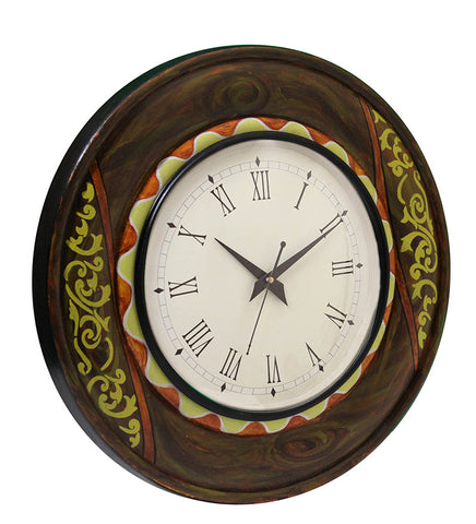 Handcrafted Royal Fest Round Wall Clock