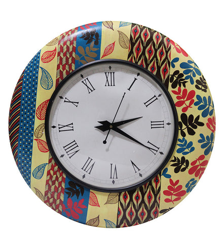 Handcrafted Color Blast Round Wall Clock