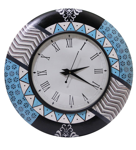 Handcrafted Turqoise Story Round Wall Clock