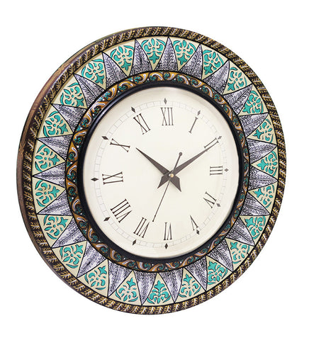Handcrafted Mystic Rajasthan Wall Clock