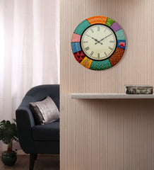 Handcrafted Color Garden Wall Clock