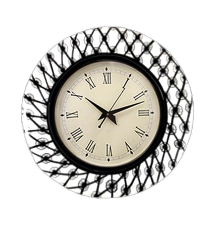 Handcrafted White Garden Wall Clock