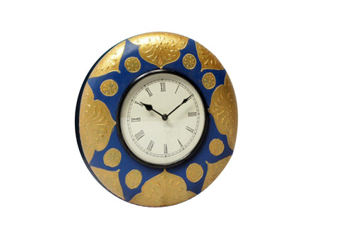 Handcrafted Gold Fest Wall Clock
