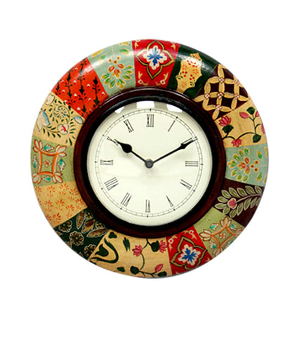 Handcrafted Color Forest Wall Clock