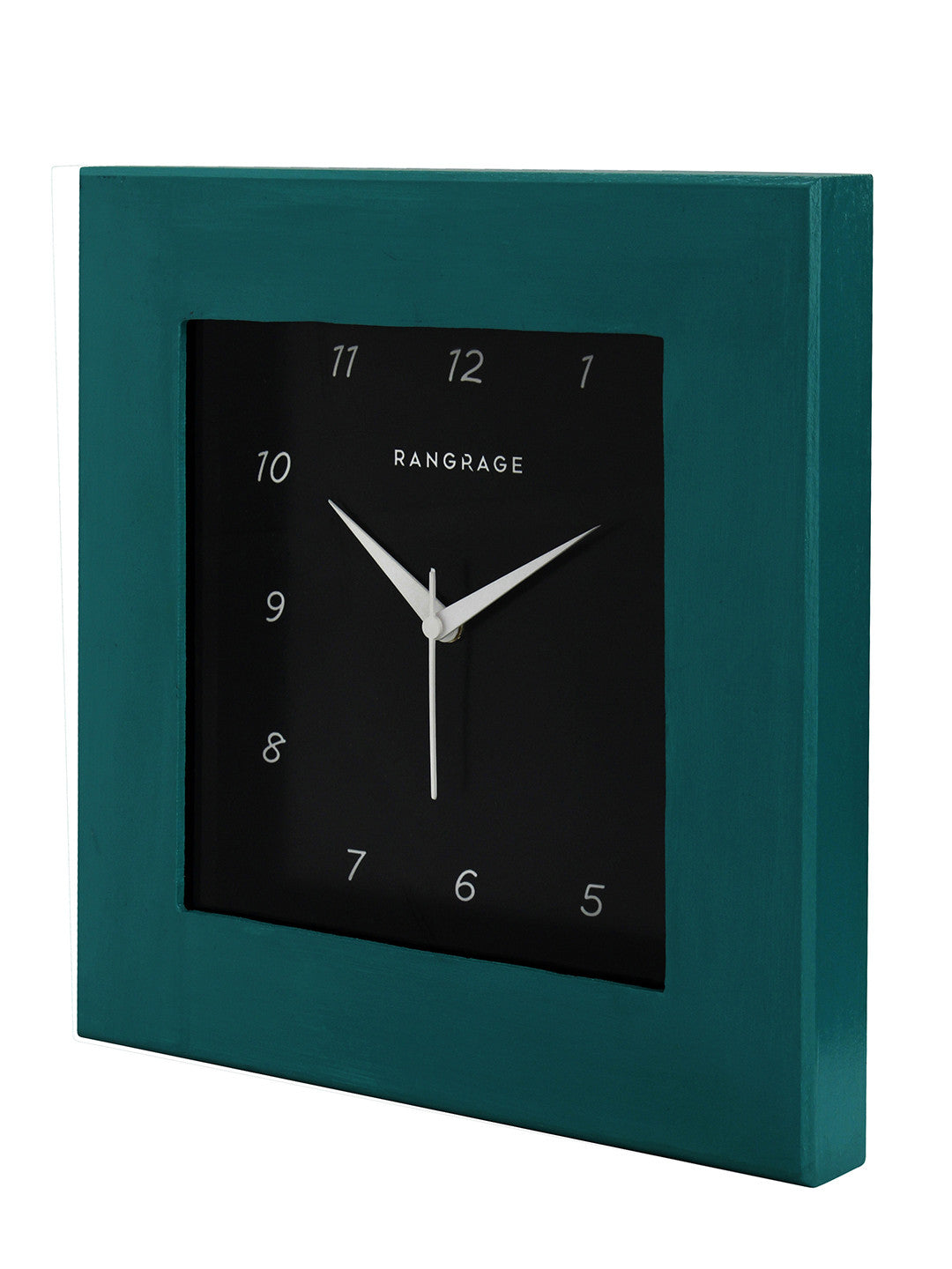 CLASSY TURQUOISE SQUARE WALL CLOCK