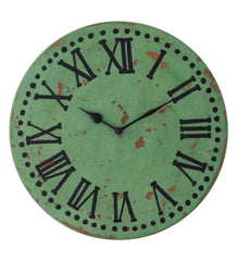 Handcrafted Vintage Turquoise Wall Clock
