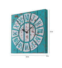 Handcrafted Vintage White Wall Clock