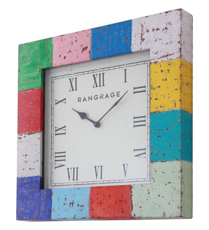Handcrafted Vintage Rainbow Wall Clock