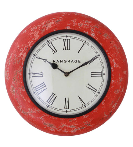 Handcrafted Vintage Red Wall Clock