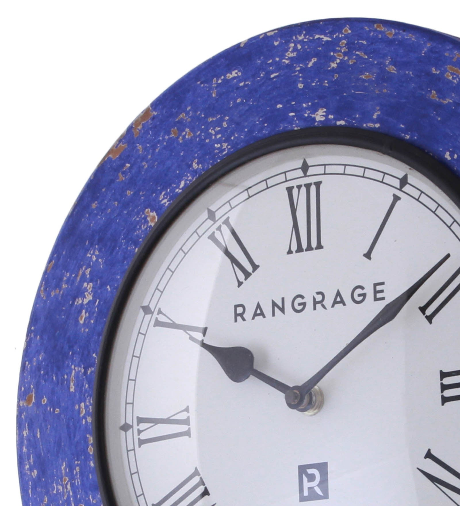 Handcrafted vintage blue wall clock decorative wall clocks handcrafted vintage blue wall clock amipublicfo Image collections