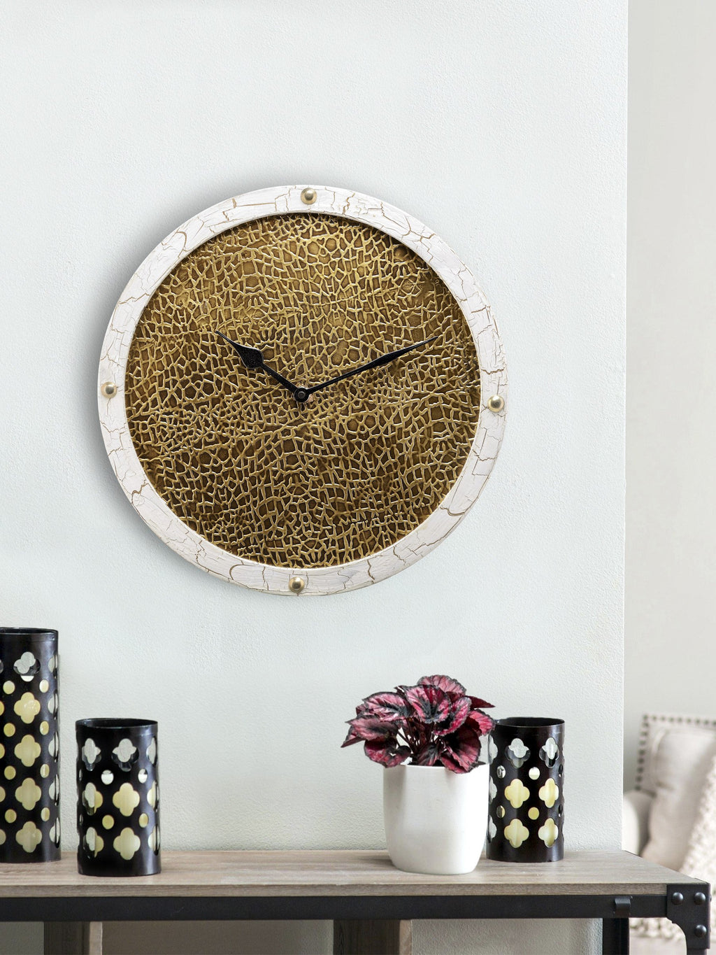 Handcrafted Golden Era Wall Clock