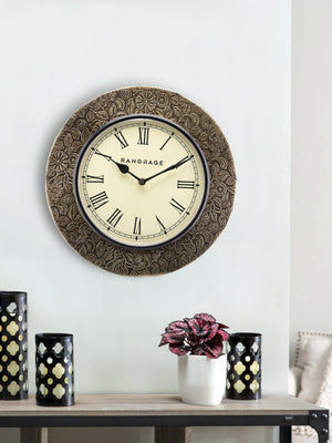 Handcrafted Copper Celebration Wall Clock