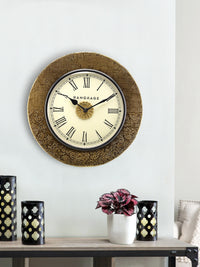Handcrafted Golden Gift Wall Clock