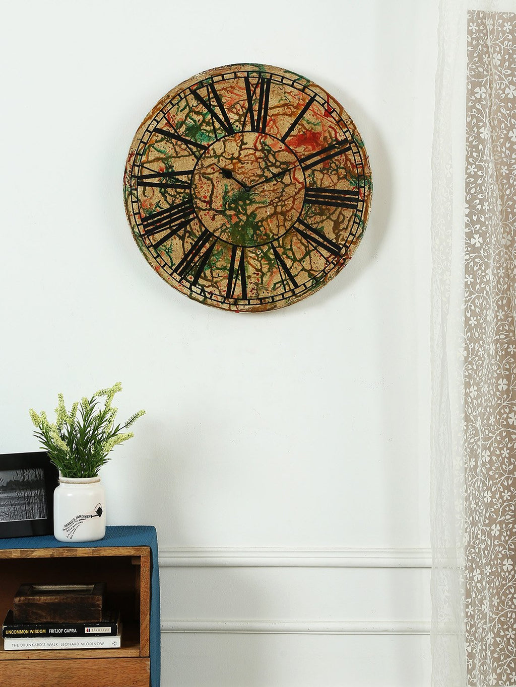 Brown-Color-Wall-Clock