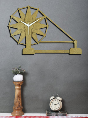 Handcrafted Charkha Wall Clock