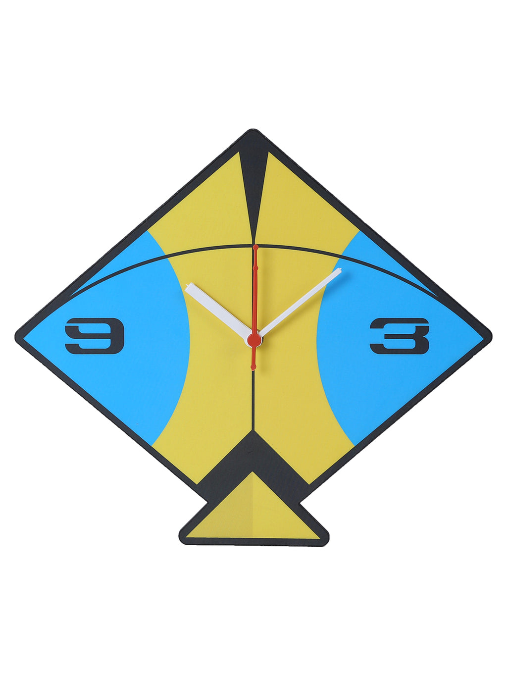 Handcrafted Blue & Yellow Kite Wall Clock