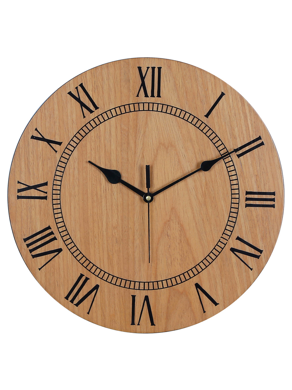 RANGRAGE Handcrafted Circular Wooden Wall Clock