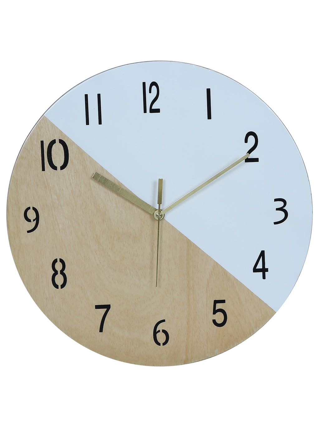 RANGRAGE Handcrafted Circular White Wooden Wall Clock