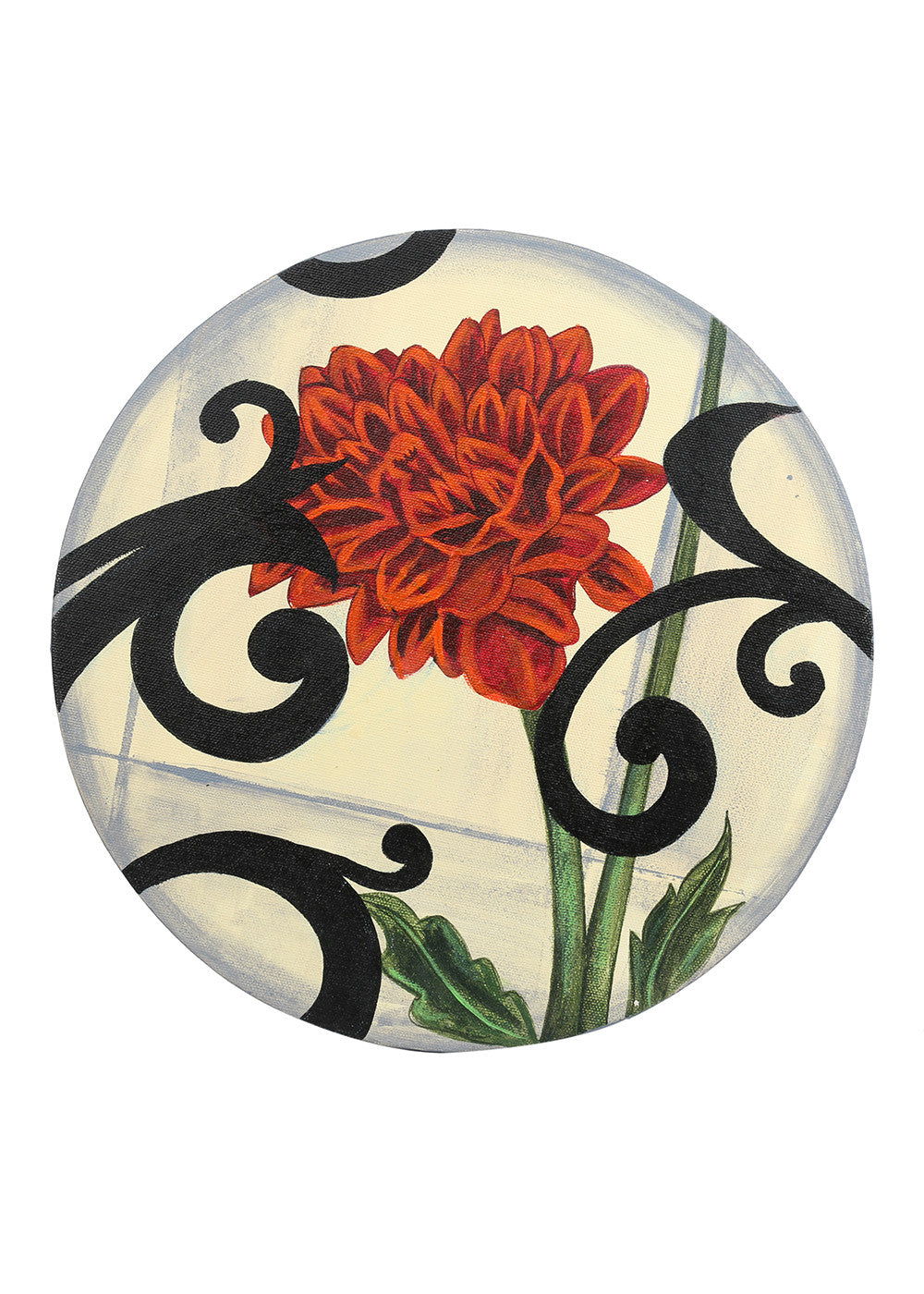 Hand-painted Modern Blend Round Classic Painting - RANGRAGE