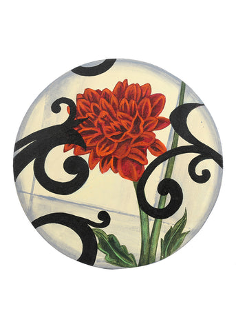 Hand-painted Modern Blend Round Classic Painting