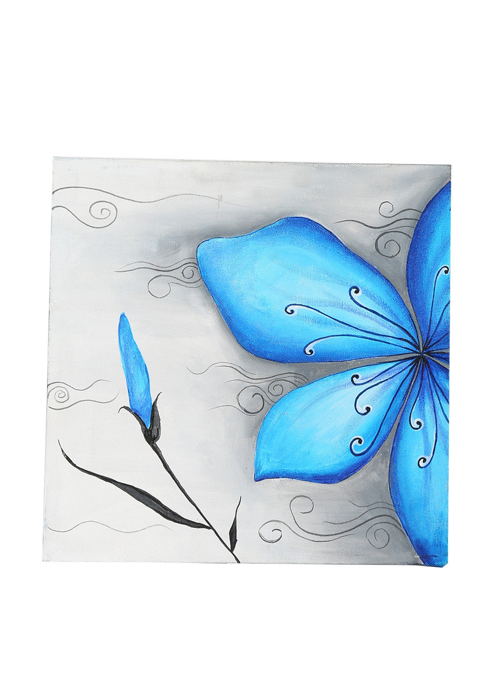 Hand-painted Floral Fantasy Blue Classic Painting - RANGRAGE