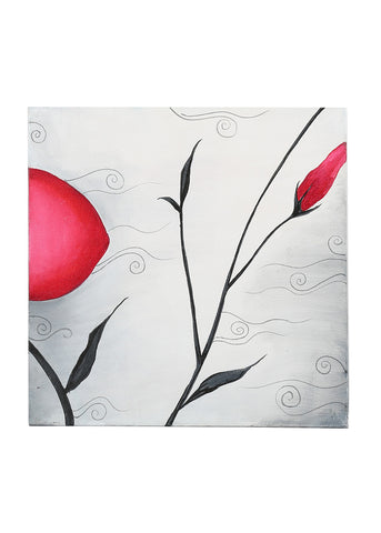 Hand-painted Abstract Florets Classic painting