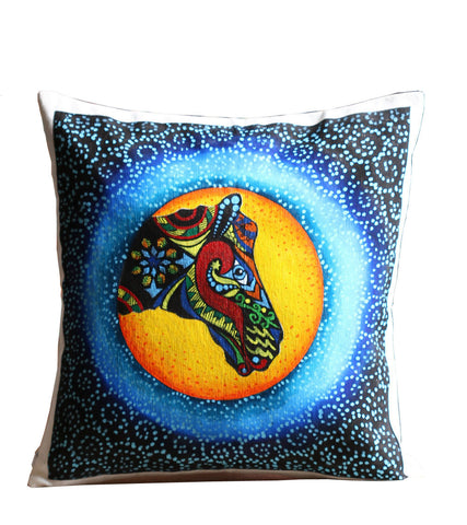 Hand-painted Animal Trio Cushion Covers  (Set of 3)