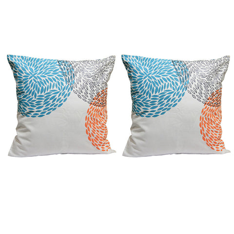 Handcrafted  Abstract Circles Cushion Covers (Set of 2)
